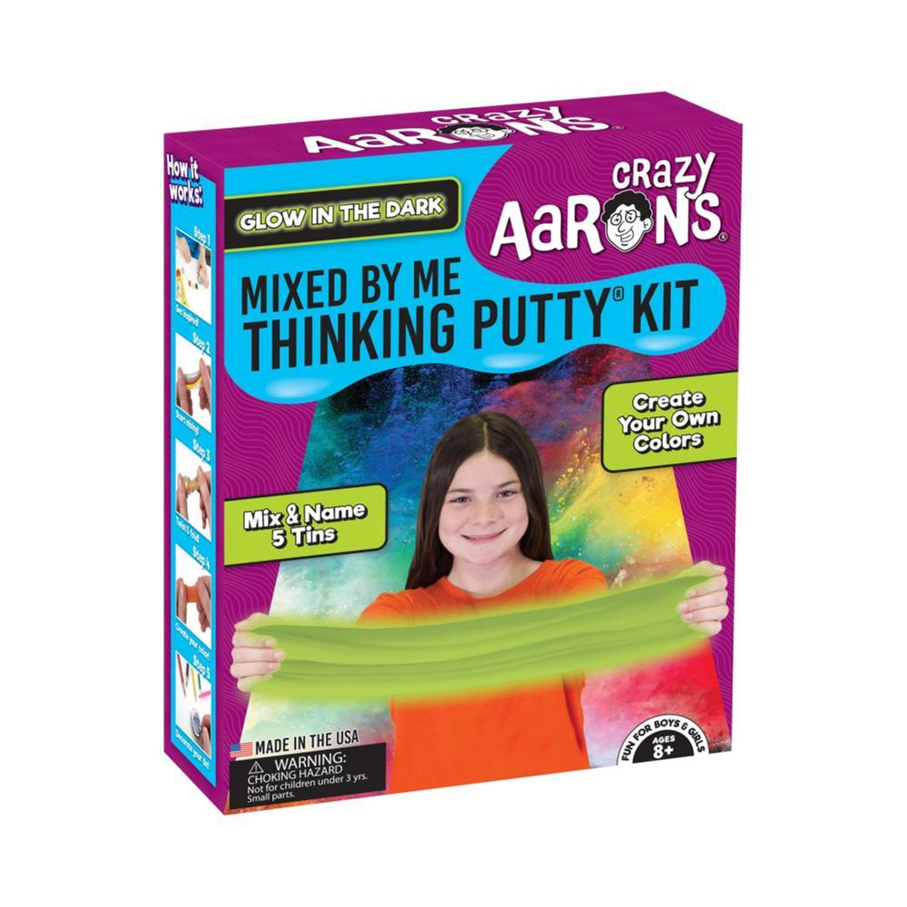 Crazy Aaron's Glow In The Dark Mixed By Me Thinking Putty Kit GLOW