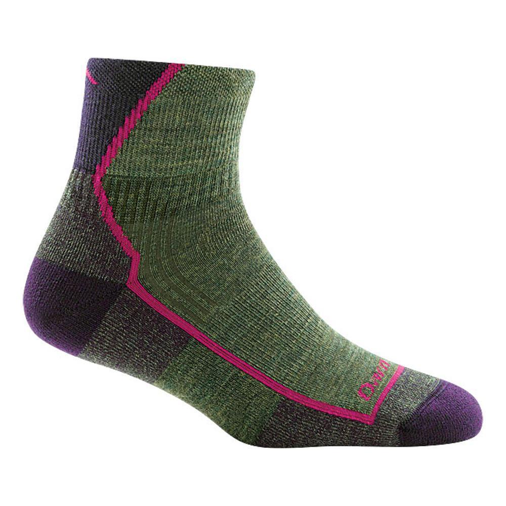 Darn Tough Women's 1/4 Quarter Cushion Socks MOSSHEATHER