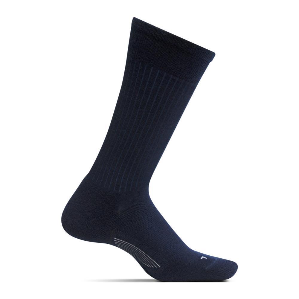 Feetures Women's Texture Ultra Light Crew Socks BLACK