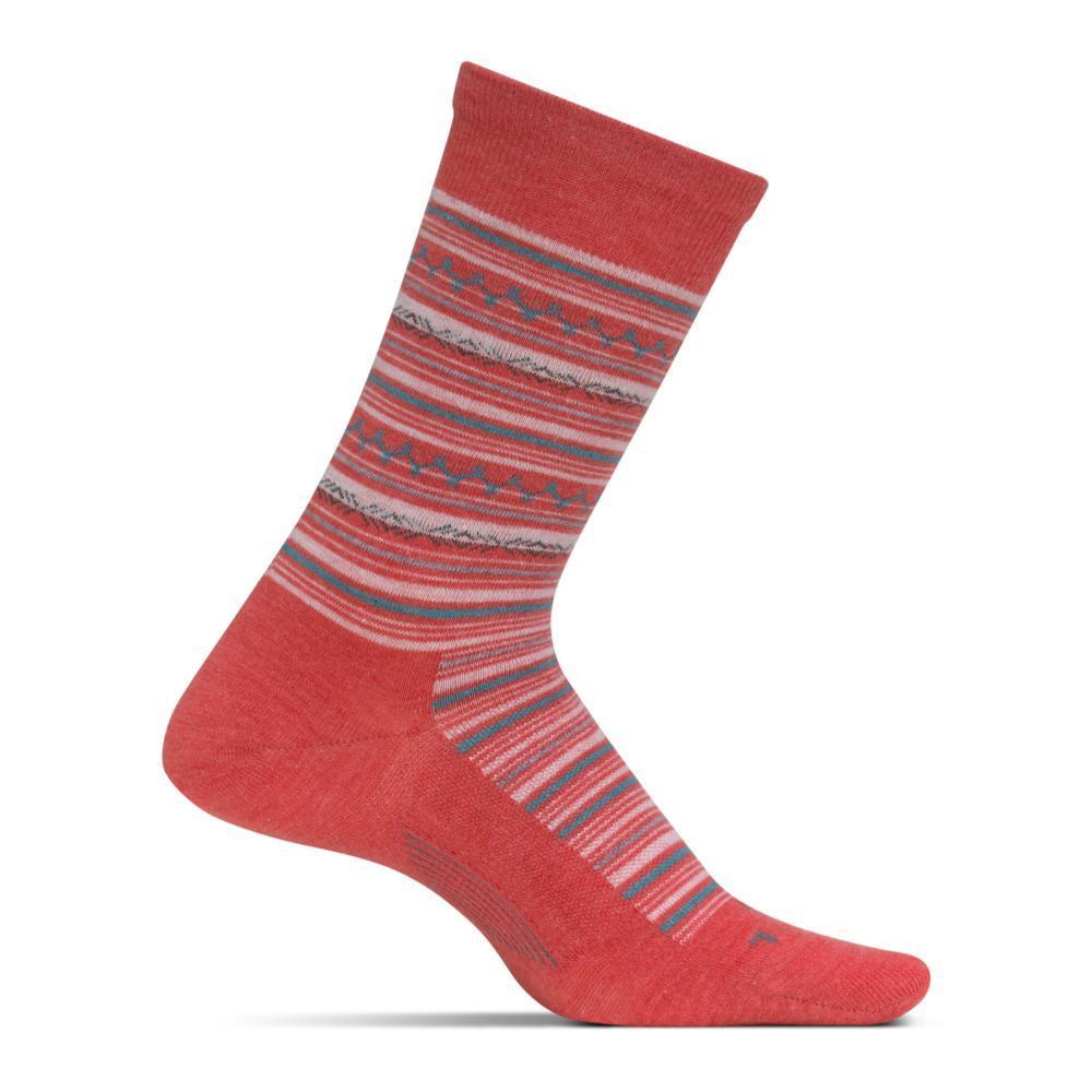 Feetures Women's Santa Fe Ultra Light Crew Socks CORAL
