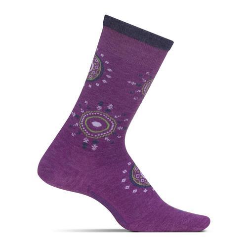 Feetures Women's Texture Cushion Crew Socks