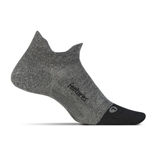 Feetures Unisex Elite Ultra Light No Show Tab Socks Gray