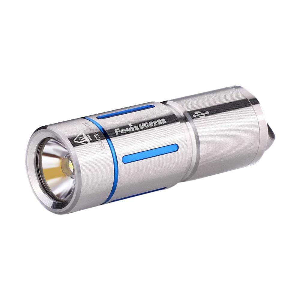 Fenix Rechargeable Stainless Steel Keychain Flashlight BLUE