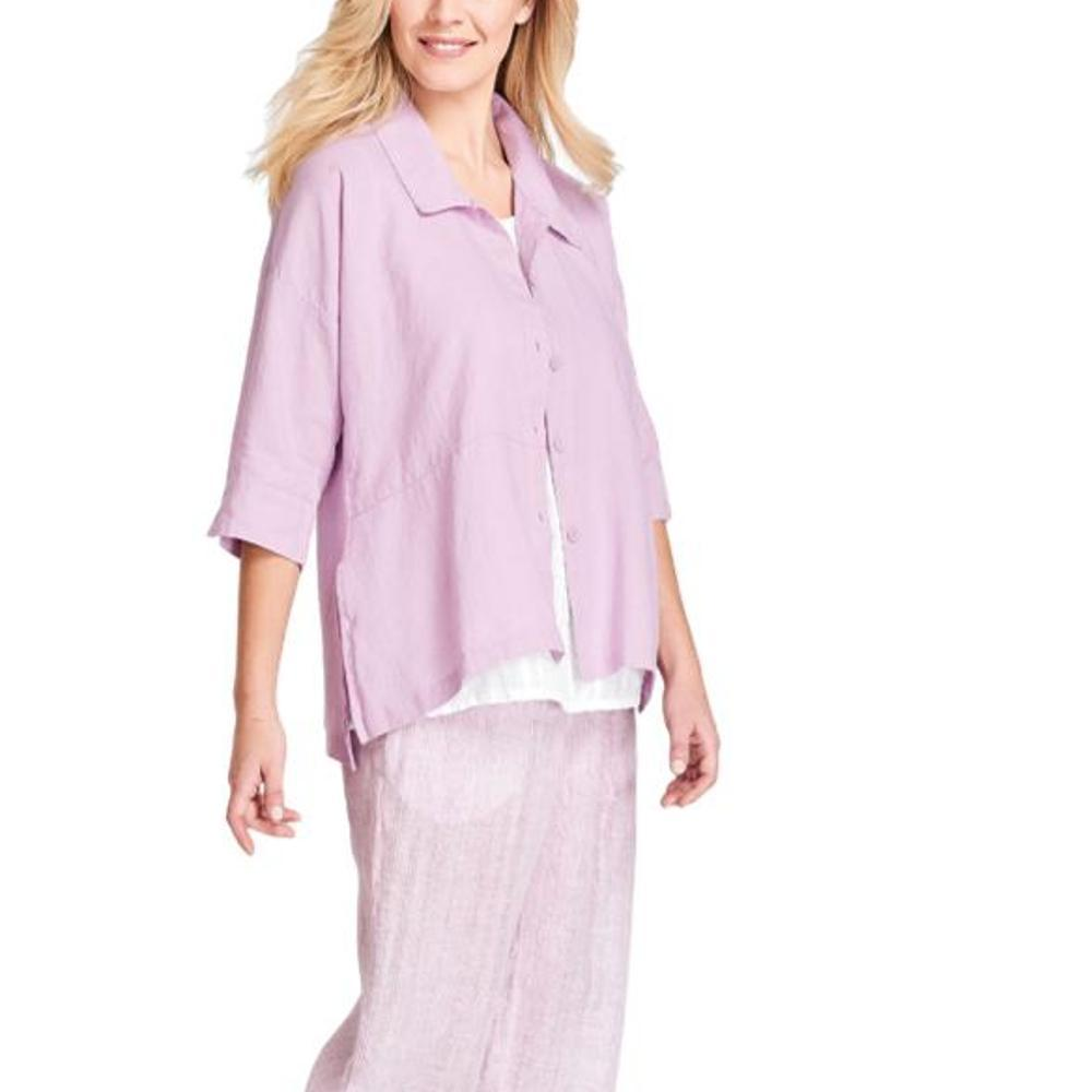 FLAX Women's Artful Blouse ORCHID