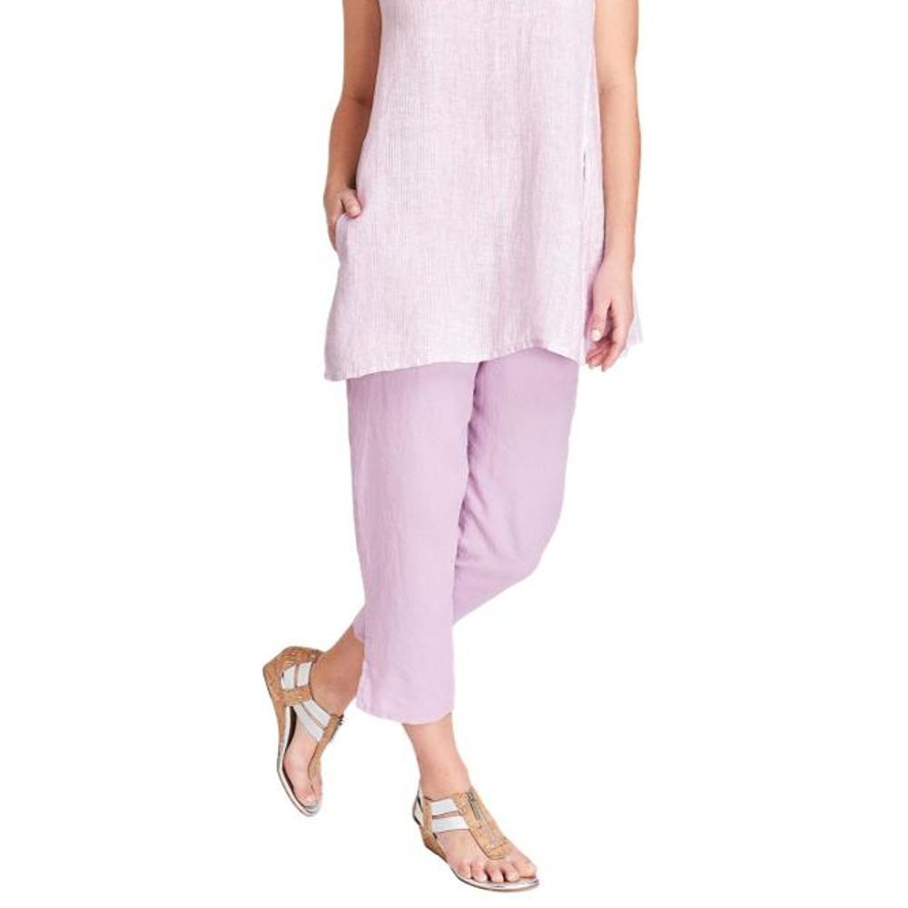 FLAX Women's Pocketed Ankle Pants ORCHID