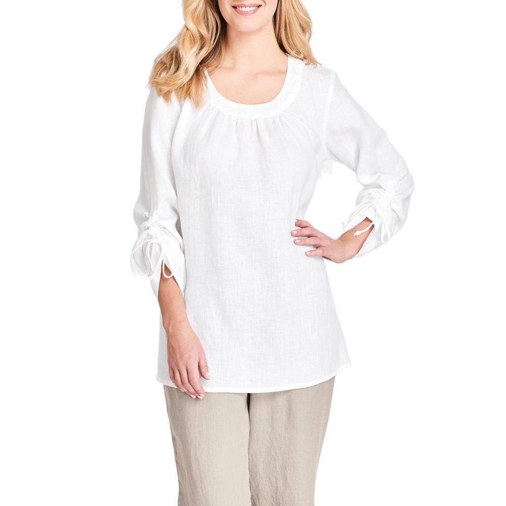 FLAX Women's Zen Pull Long Sleeve Shirt WHITE