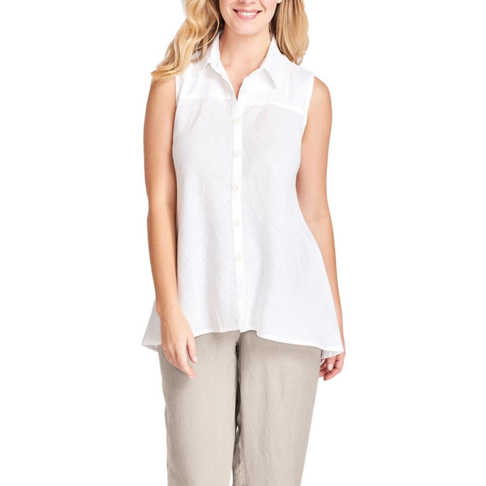 FLAX Women's Skyline Sleeveless Blouse WHITE