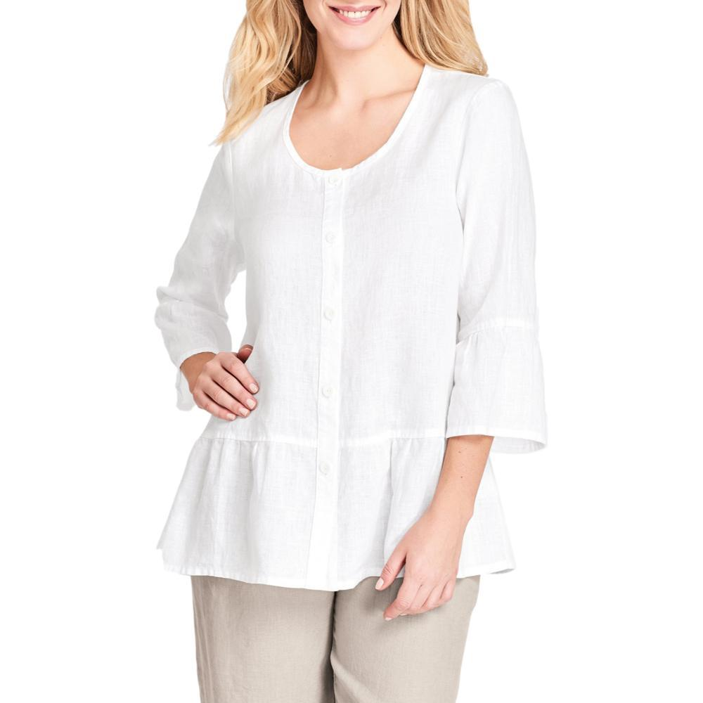 FLAX Women's Southern Belle Top WHITE