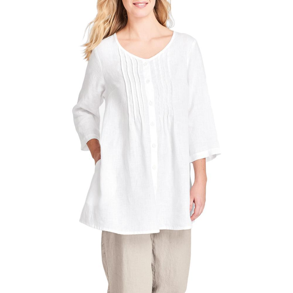 FLAX Women's Celebration Blouse WHITE