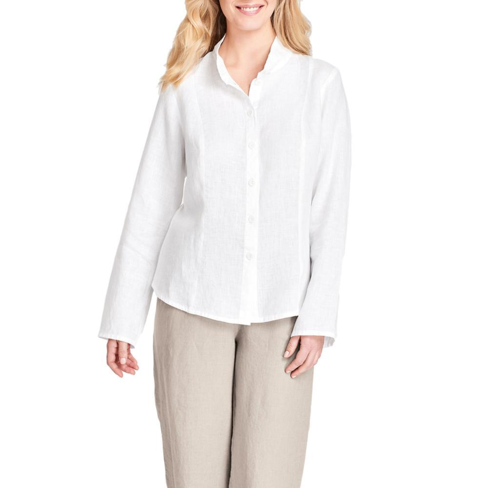 FLAX Women's Victoria Barkley Long Sleeve Shirt WHITE