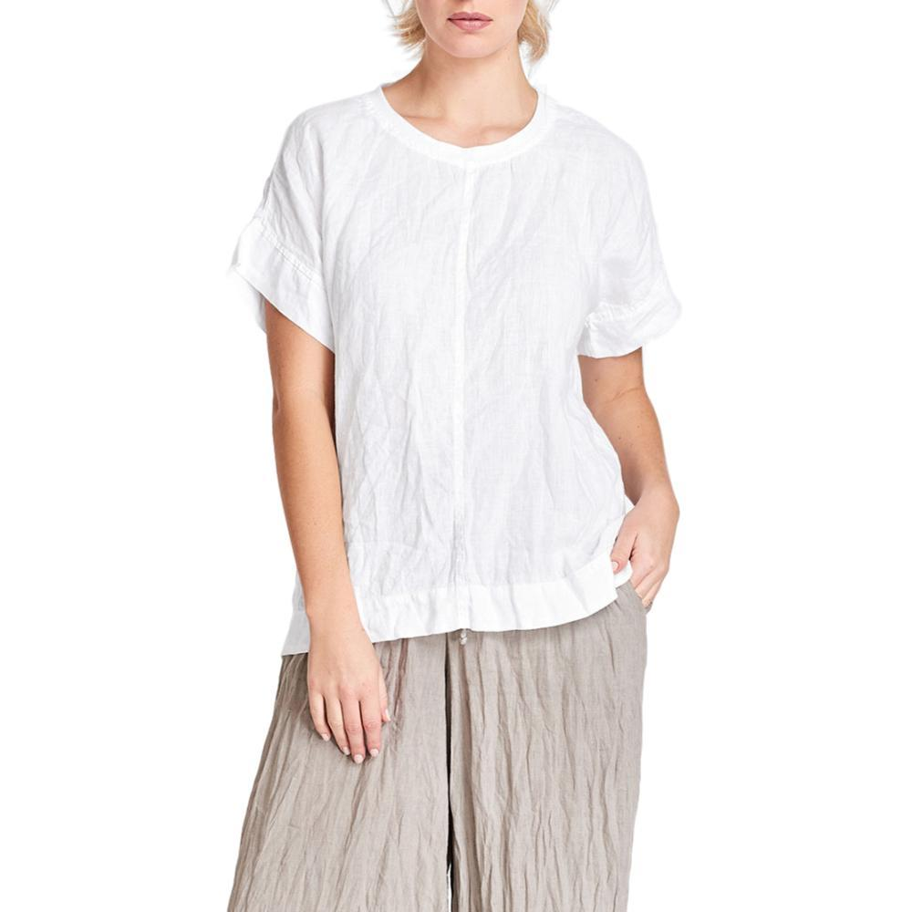 FLAX Women's Tee Top WHITE