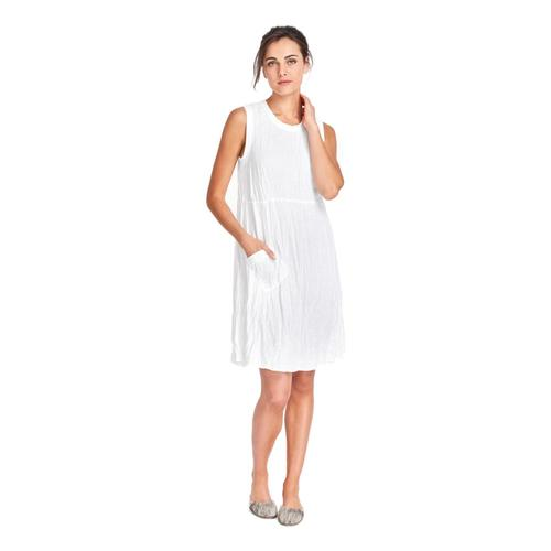 FLAX Women's Work/Play Dress White
