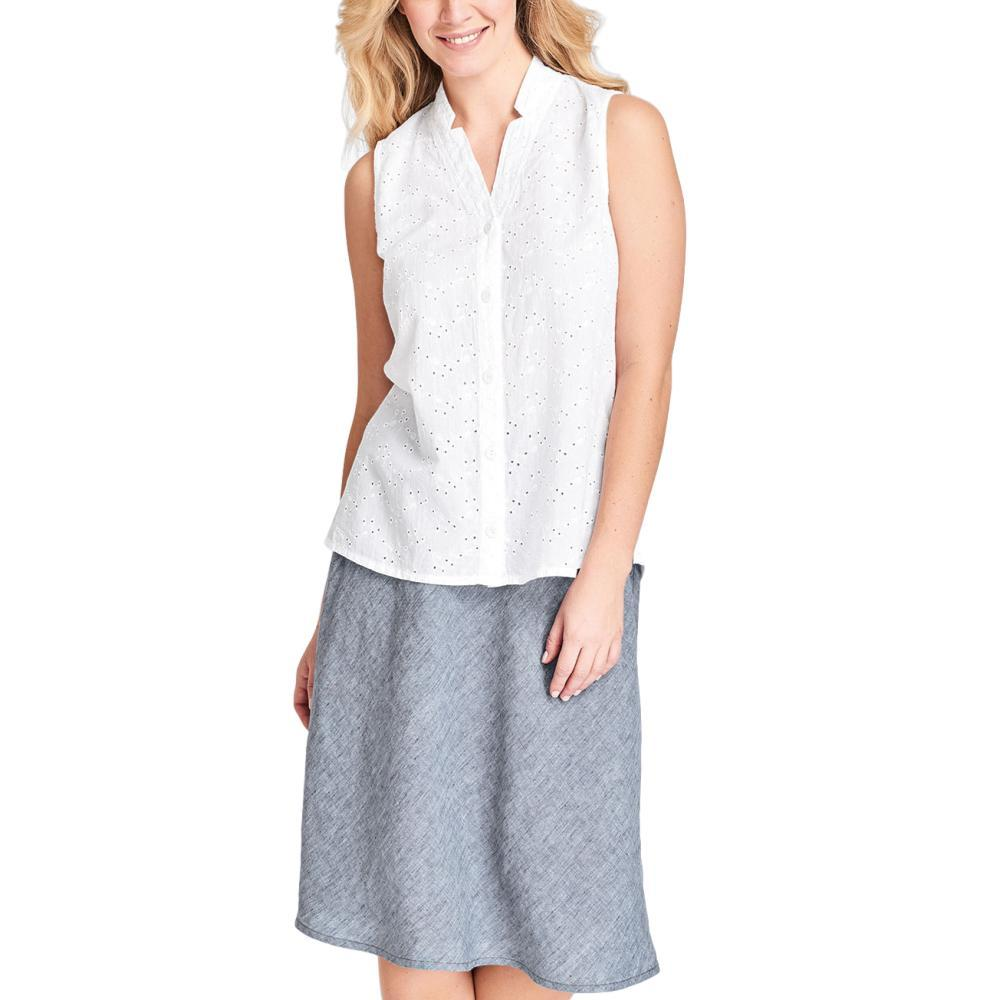 FLAX Women's Gazebo Sleeveless Blouse EYELET