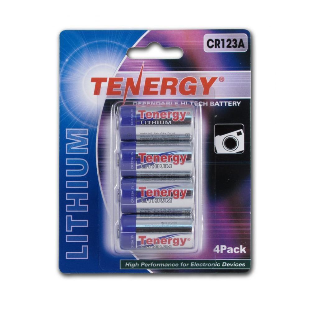 Fenix Tenergy Cr123a Battery 4- Pk