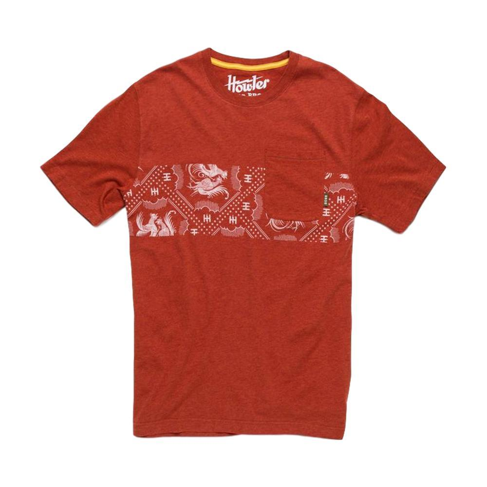 Howler Brothers Men's Prize Fight Stripe Pocket T-Shirt REDHEATHER