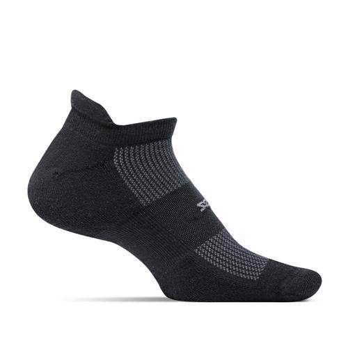 Feetures Unisex High Performance Cushion No Show Tab Socks Black