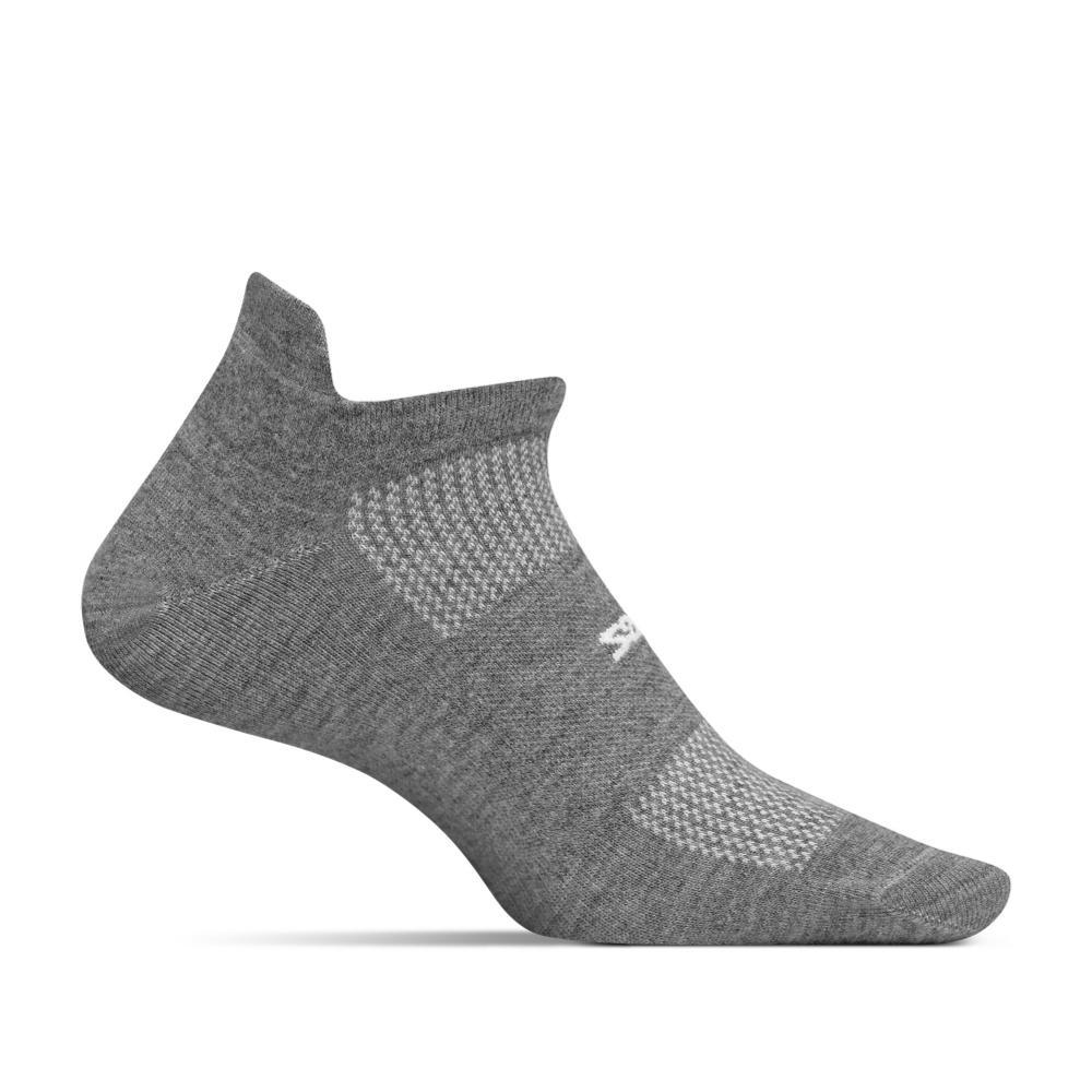 Feetures Unisex High Performance Ultra Light No Show Tab Socks HEATHER_GRAY