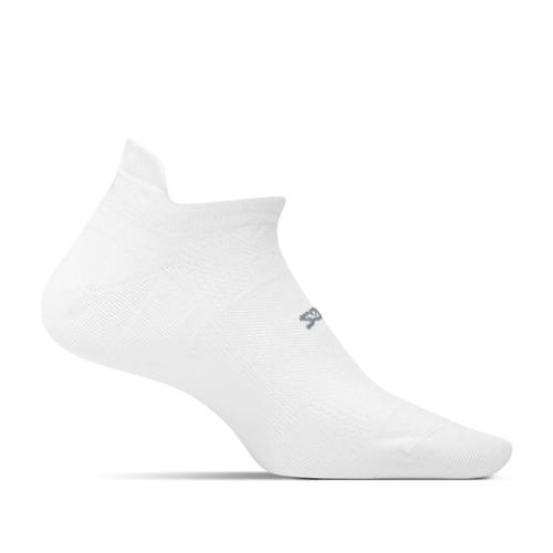 Feetures Unisex High Performance Ultra Light No Show Tab Socks White
