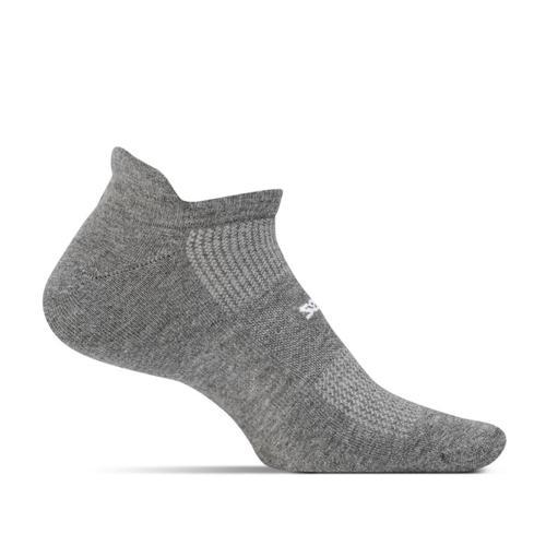 Feetures Unisex High Performance Cushion No Show Tab Socks Heathergray