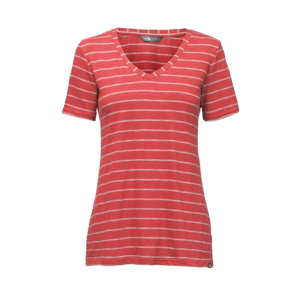 The North Face Women's Short-Sleeve Sand Scape V-Neck Tee 3LA_RED