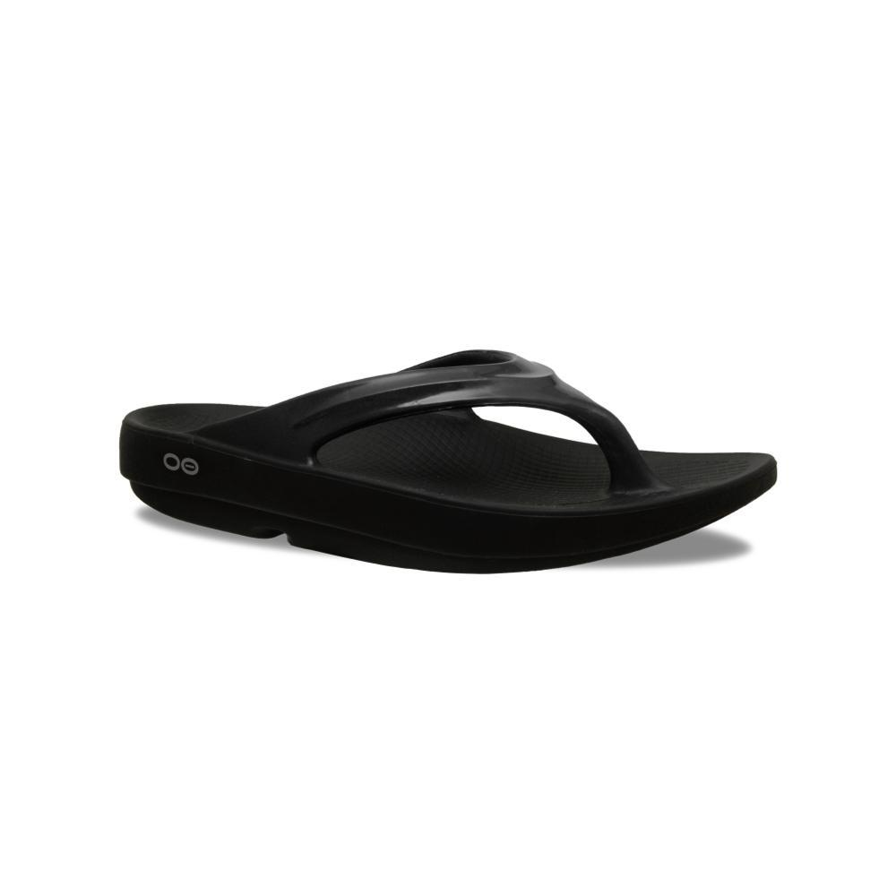 OOFOS Women's OOlala Flip Sandals BLACK