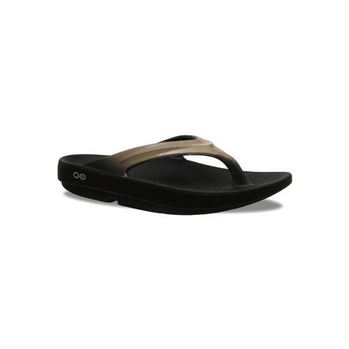 OOFOS Women's OOlala Flip Sandals Blklatte
