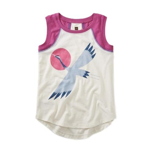 Tea Collection Girls Crane Graphic Tunic