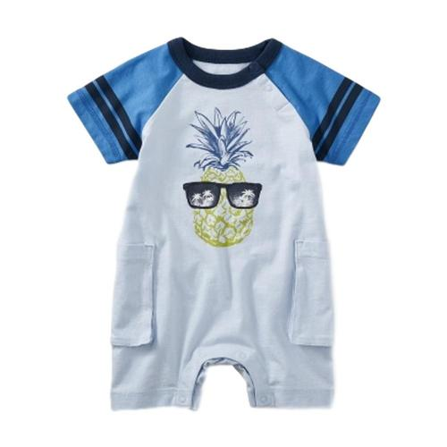 Tea Collection Infant Pineapple Cargo Romper
