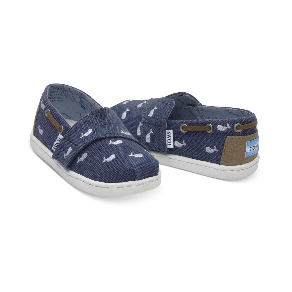 TOMS Kids Oceana Navy Whale Embroidered Tiny Biminis WHALE