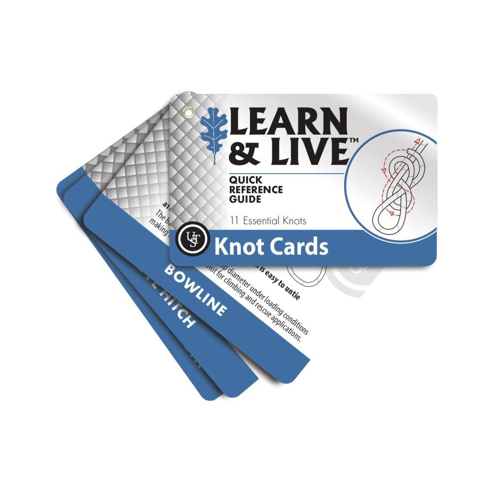 Ultimate Survival Technologies Learn & Live Cards - Knots BLUWHT