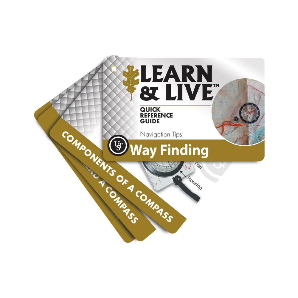 Ultimate Survival Technologies Learn & Live Cards - Way Finding BRNWHT