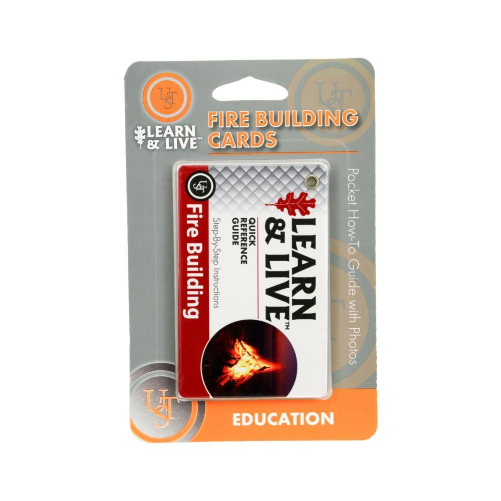 Ultimate Survival Technologies Learn & Live Cards - Fire Building REDWHT