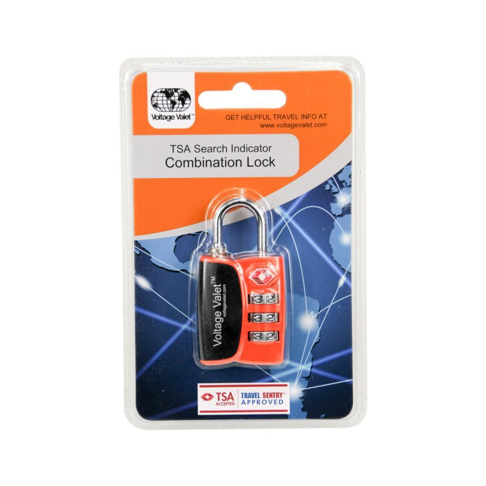 Voltage Valet TSA Search Indicator Combination Lock Orange