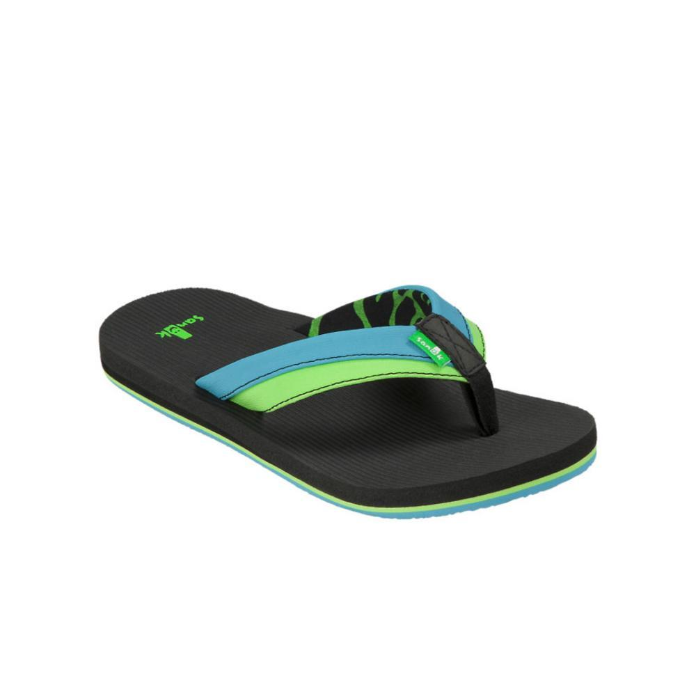 Sanuk Youth Rootbeer Cozy Light Flip Sandals OCEANLIME