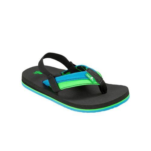 Sanuk Kids Rootbeer Cozy Light Flip Sandals Oceanlime