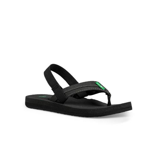 Sanuk Kids Rootbeer Cozy Light Flip Sandals Black