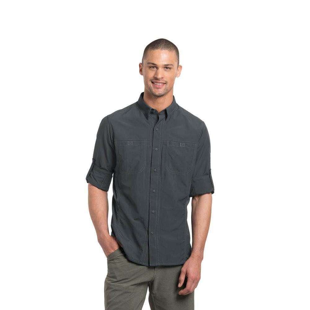 KUHL Men's Invoke Long Sleeve Shirt CARBON