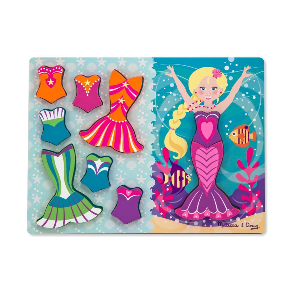 Melissa & Doug Mermaid Dress- Up Chunky Puzzle - 9pc