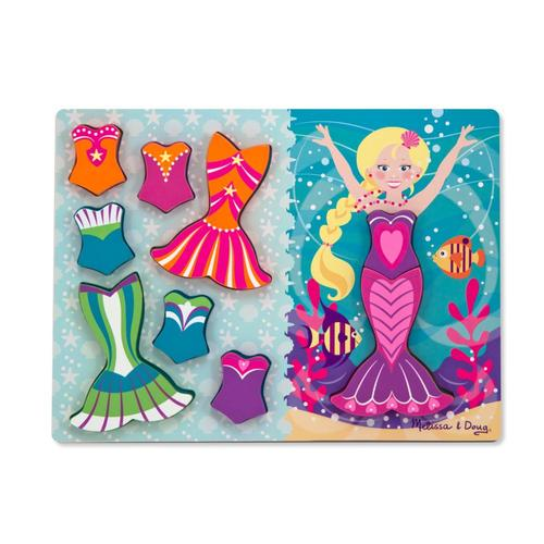 Melissa & Doug Mermaid Dress-Up Chunky Puzzle - 9Pc