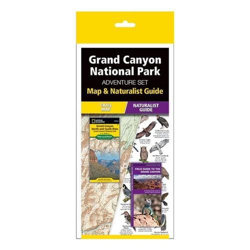 Grand Canyon Adventure Set: Map & Naturalist Guide by Waterford Press and National Geographic Maps