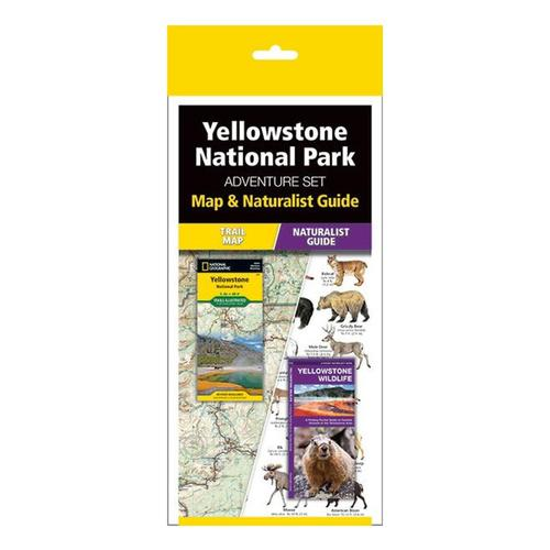 Yellowstone Adventure Set: Map & Naturalist Guide by Waterford Press and National Geographic Maps