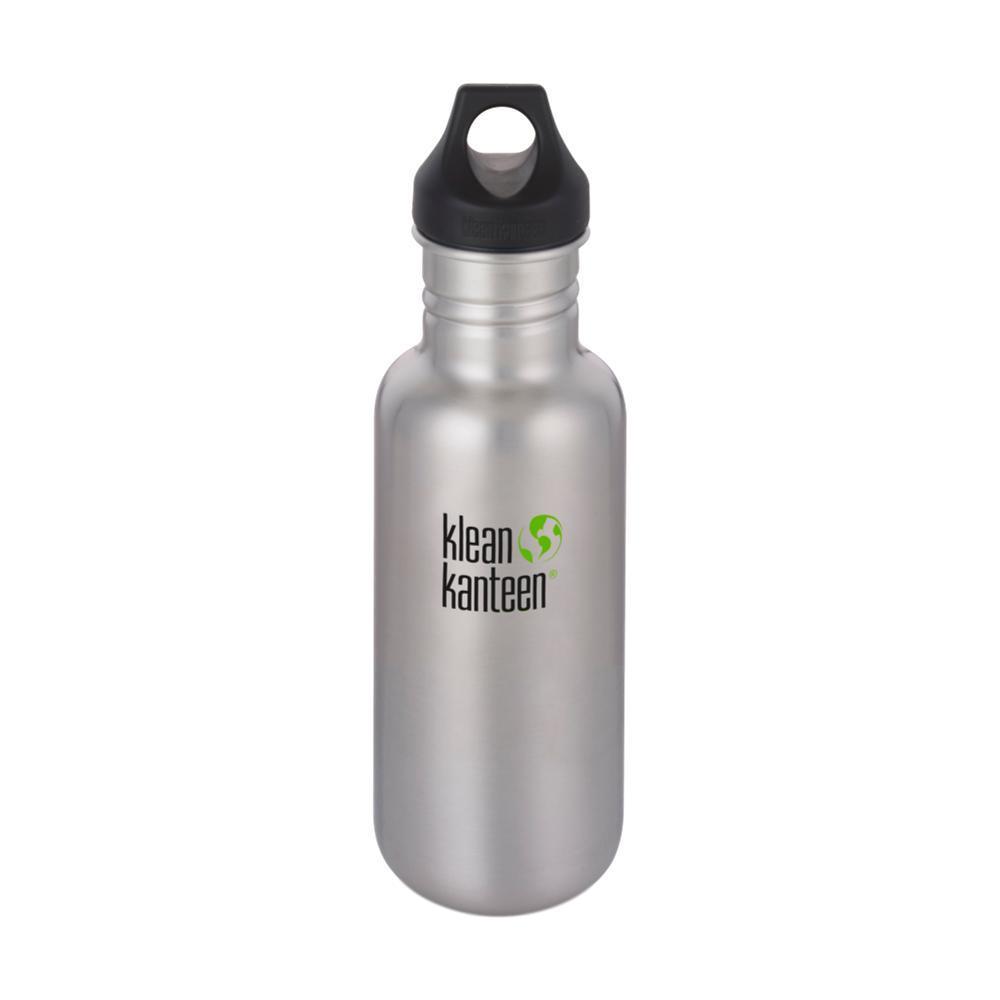 Klean Kanteen Classic Bottle w/Loop Cap - 18oz BRUSHED.STNLS