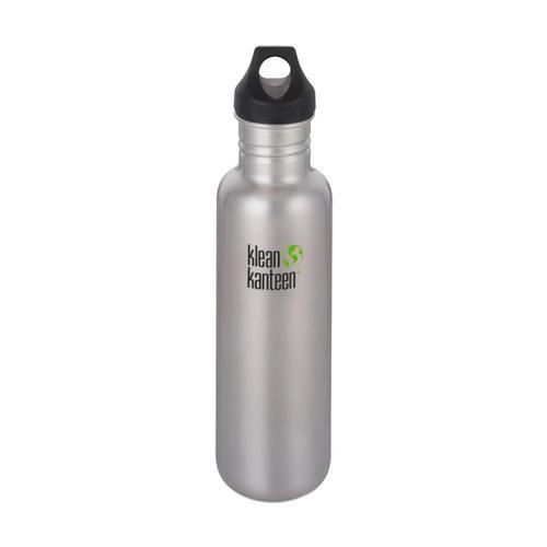 Klean Kanteen Classic Bottle w/Loop Cap - 27oz Brushed.Stnls