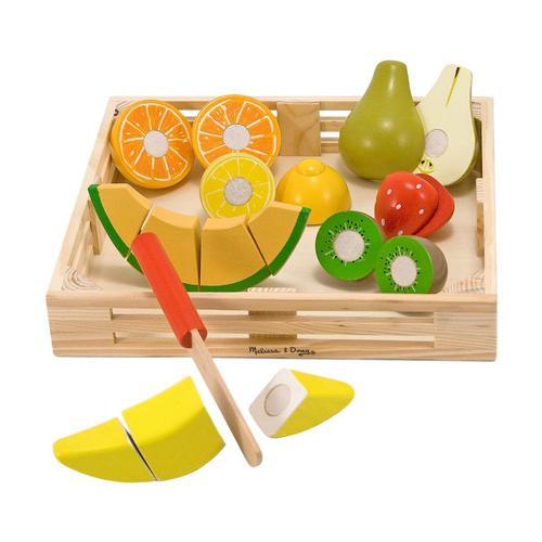 Melissa & Doug Cutting Fruit Play Set - Wooden Play Food