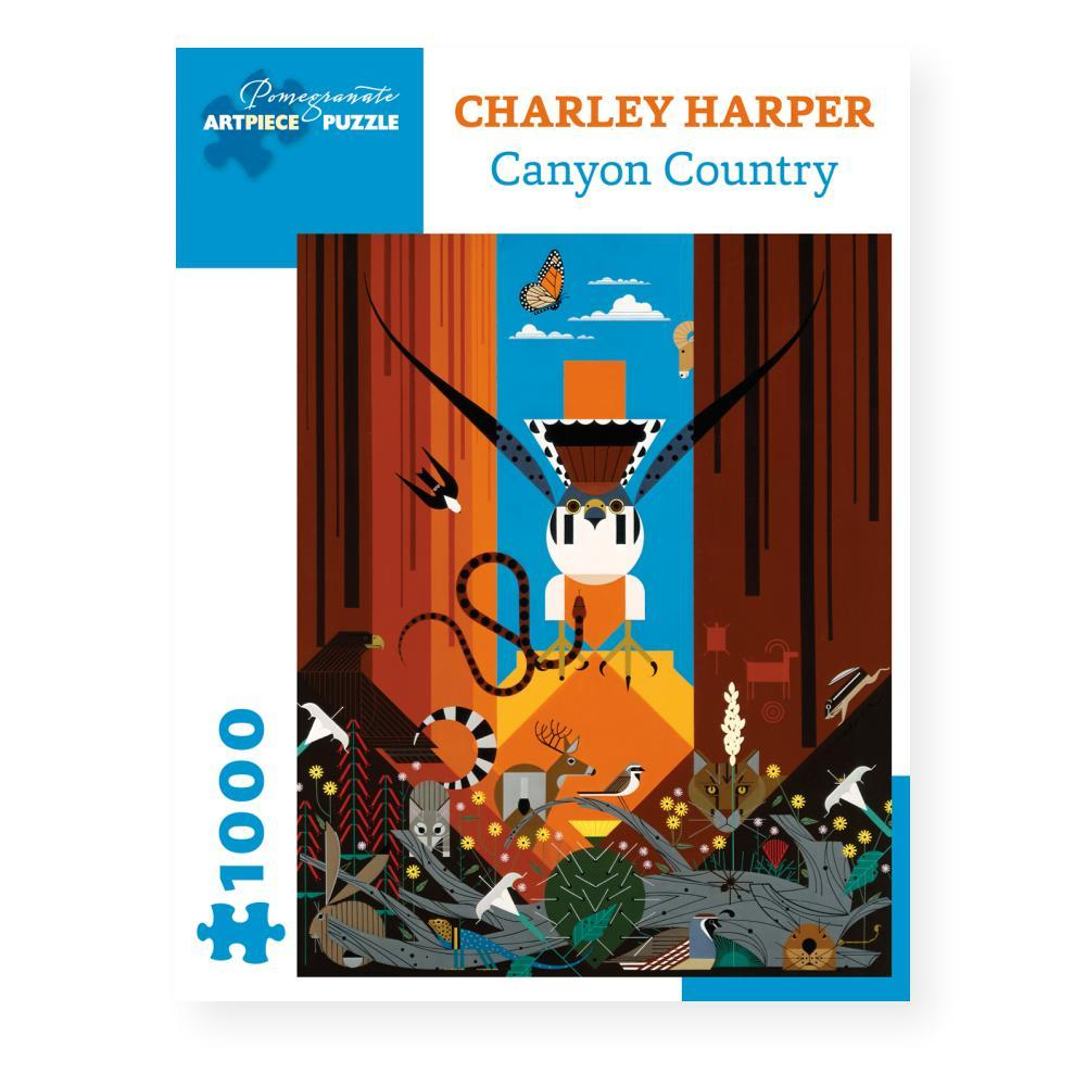 Pomegranate Charley Harper : Canyon Country 1000- Piece Jigsaw Puzzle