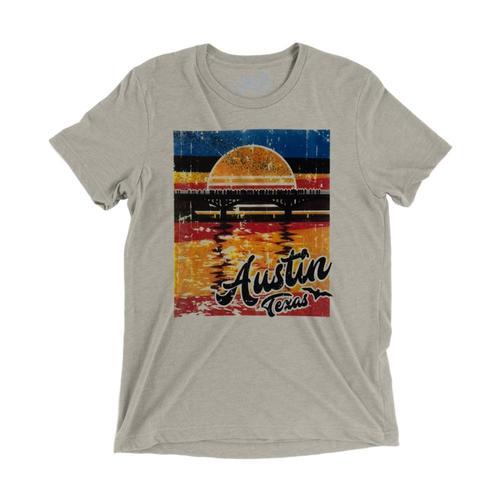 Gusto Tees Unisex Austin Bats T-Shirt Tan_3413