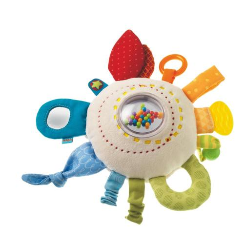 HABA Teether Cuddly Rainbow Round Toy
