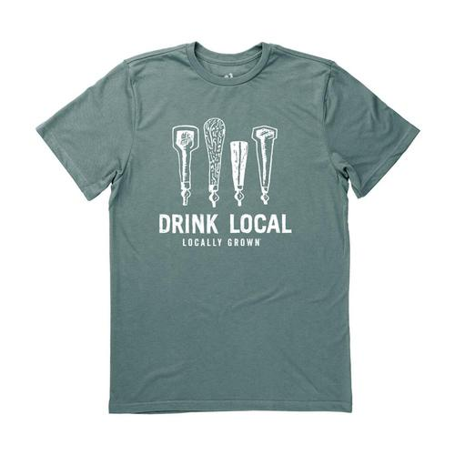 Locally Grown Unisex Drink Local Beer Taps Tee