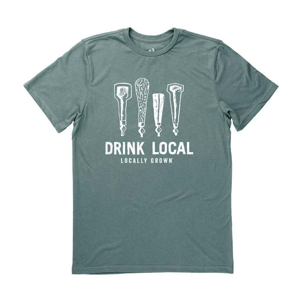 Locally Grown Unisex Drink Local Beer Taps Tee FOREST