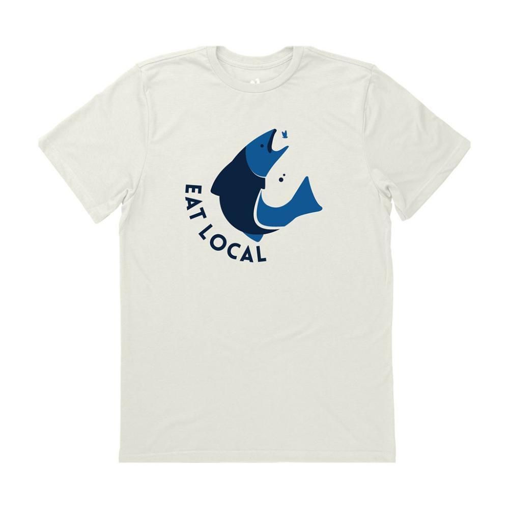 Locally Grown Unisex Eat Local on the Fly Tee CLOUD